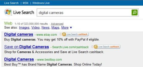 Windows Live Search Ties Up with eBay