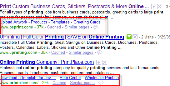 Google Expands One Line SiteLinks : Little Blue Links in SERPS