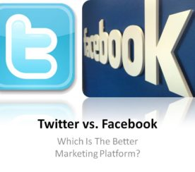 Why Facebook Marketing Slaps Twitter Marketing In the Face