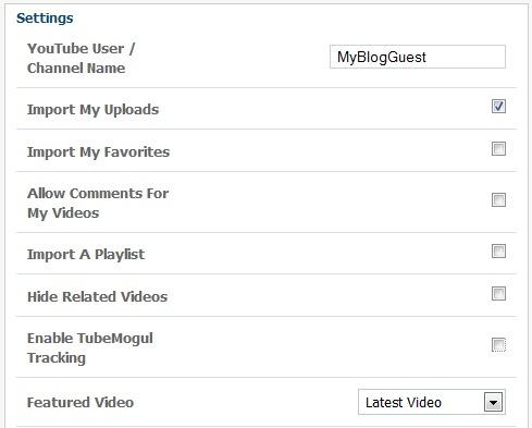 Youtube integration