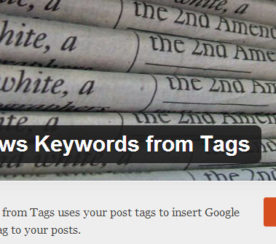WordPress Plugin Auto-Generates Google News Meta Tag Keywords