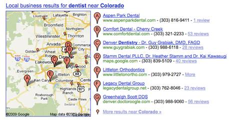 Google Now Showing Local Results for State Wide Searches