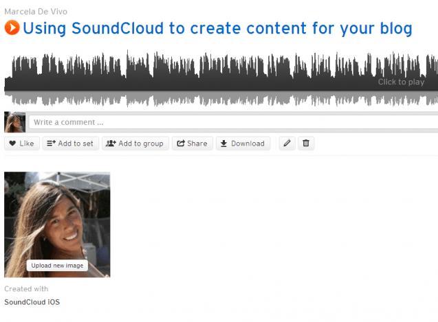 using SoundCloud