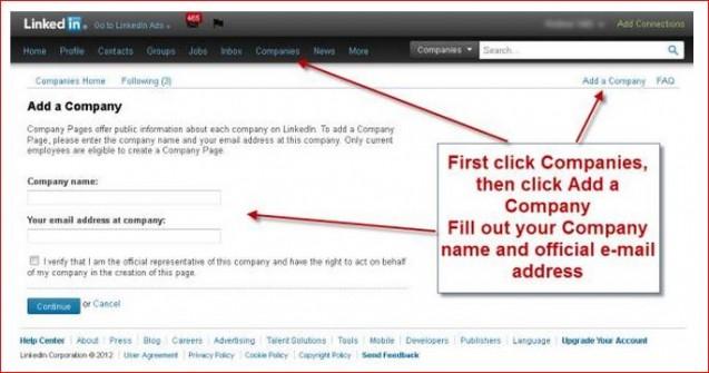 add a company on linkedin