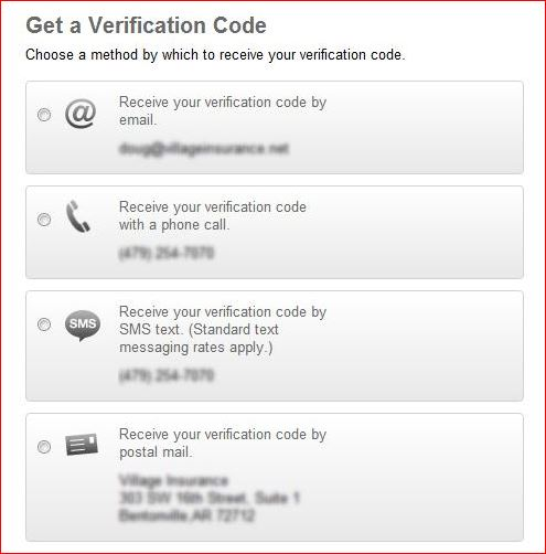 get a verification code