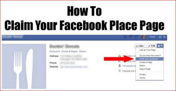 how to claim your facebook place page