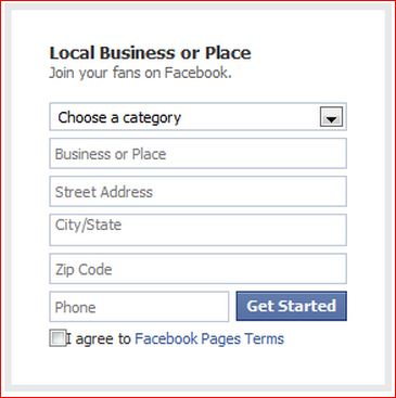 local business or page