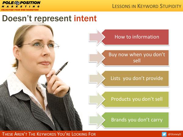 Dosen't represent intent