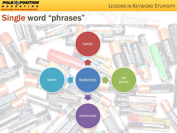 Single Word Phrases
