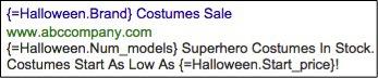 Image of Halloween ad customizers