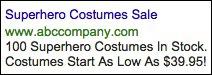 Image of live Halloween ad
