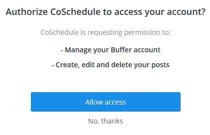 Buffer authorization