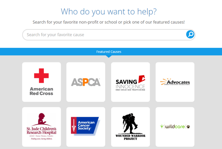 goodsearch search engine donation exa,mple