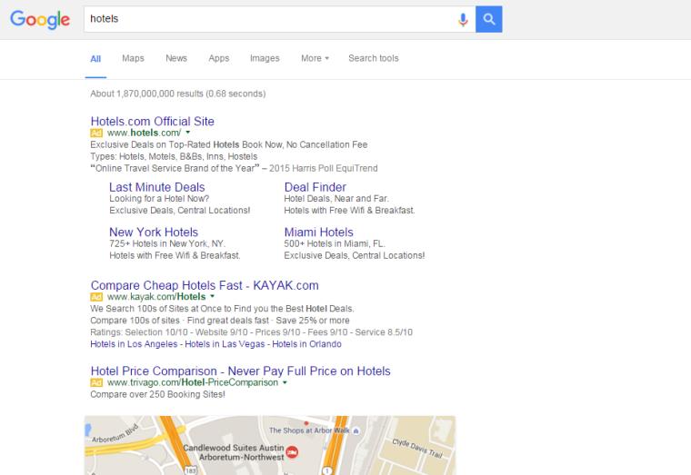 google right hand ads