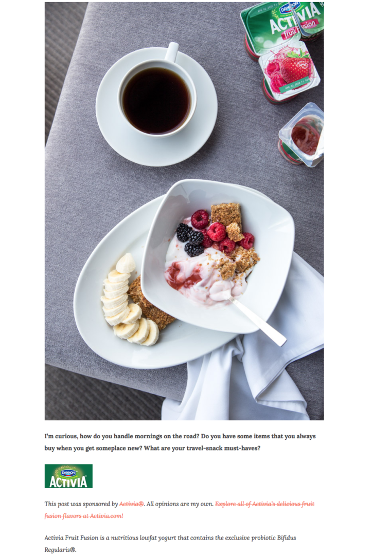 Hither&Thither partner with Activia