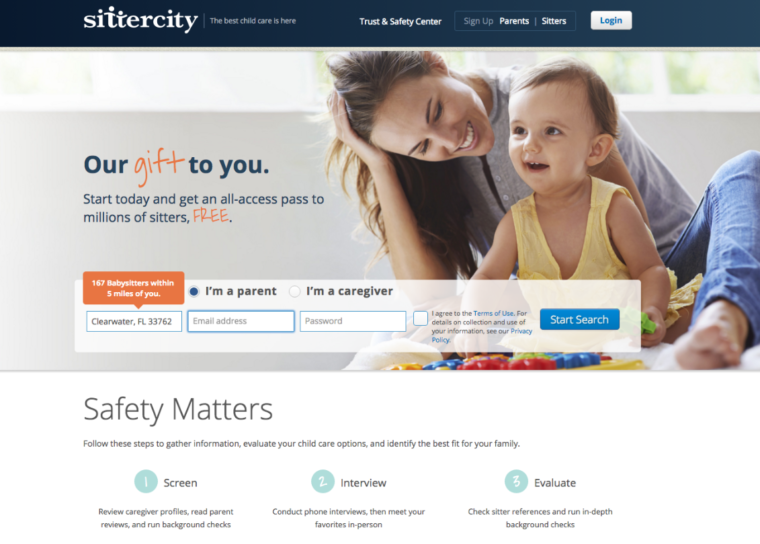 Sittercity personalization