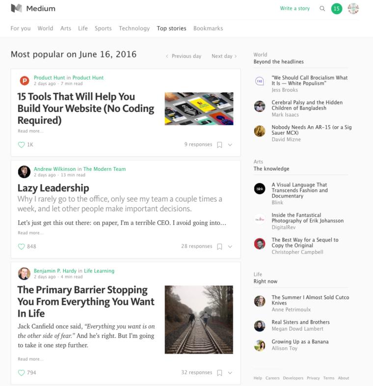 Medium Top Stories