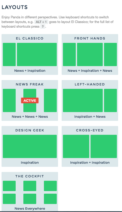 Usepanda app layouts