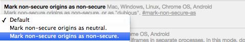 Google Chrome Mark As Non-Secure