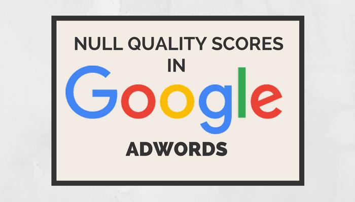 Google AdWords Returning Null Quality Scores Starting September 12