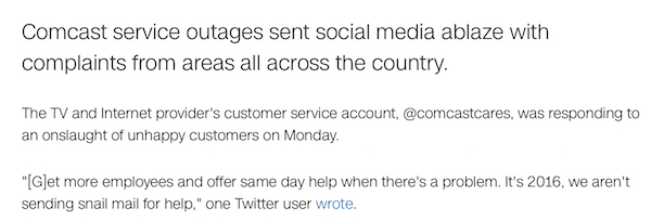 comcastcares unhappy customers