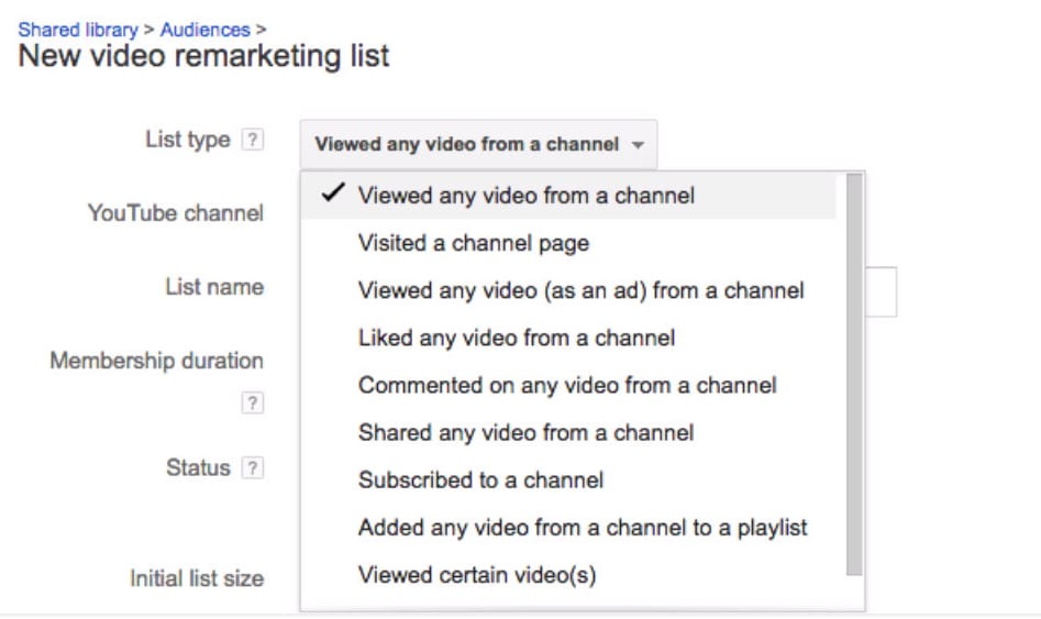 Google AdWords Now Supports Remarketing to YouTube Viewers