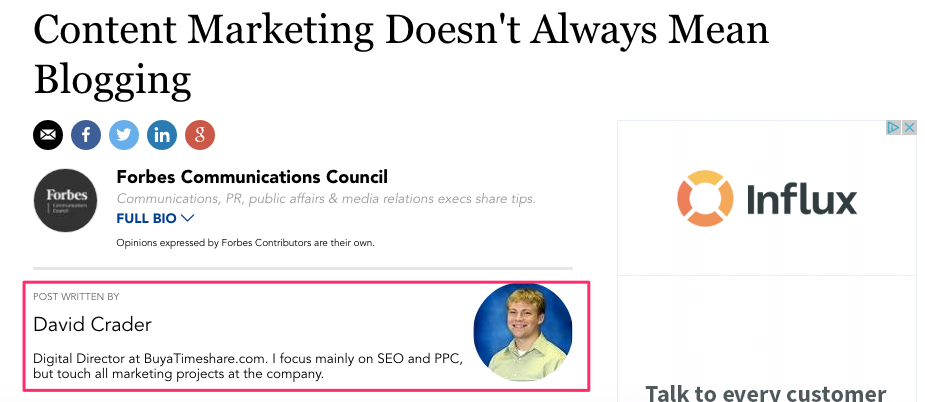 Content Marketing Doesn't Always Mean Blogging