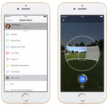 Facebook's Mobile App Can Now Capture 360-Degree Photos