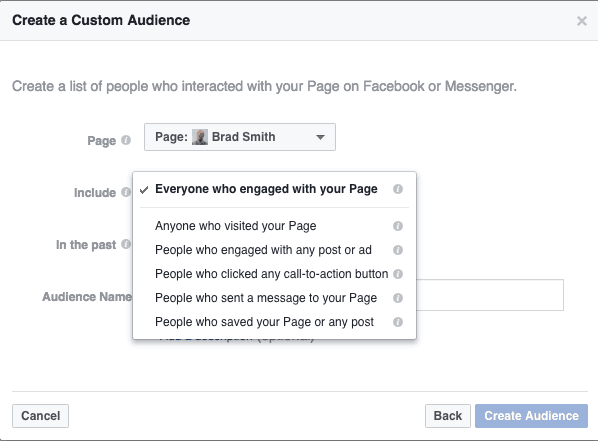 retarget custom audience