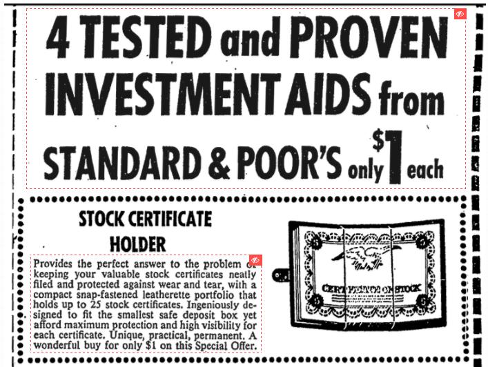 vintage standard poors ad