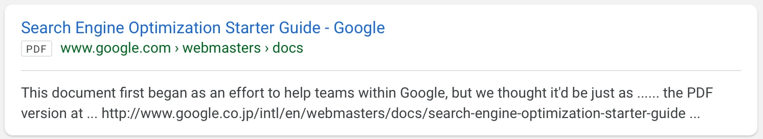 Google Updates Search Results With New Labels for PDFs and PPTs