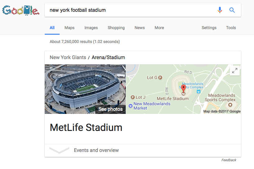 google search query for foot ball