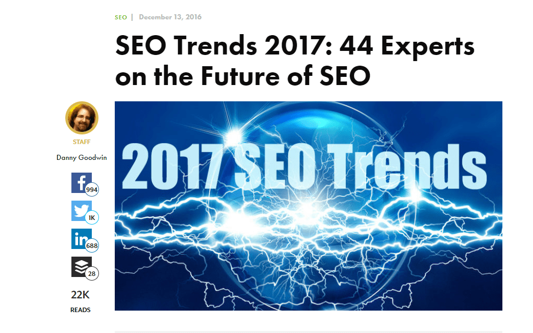 round-up style post SEO trends 2017