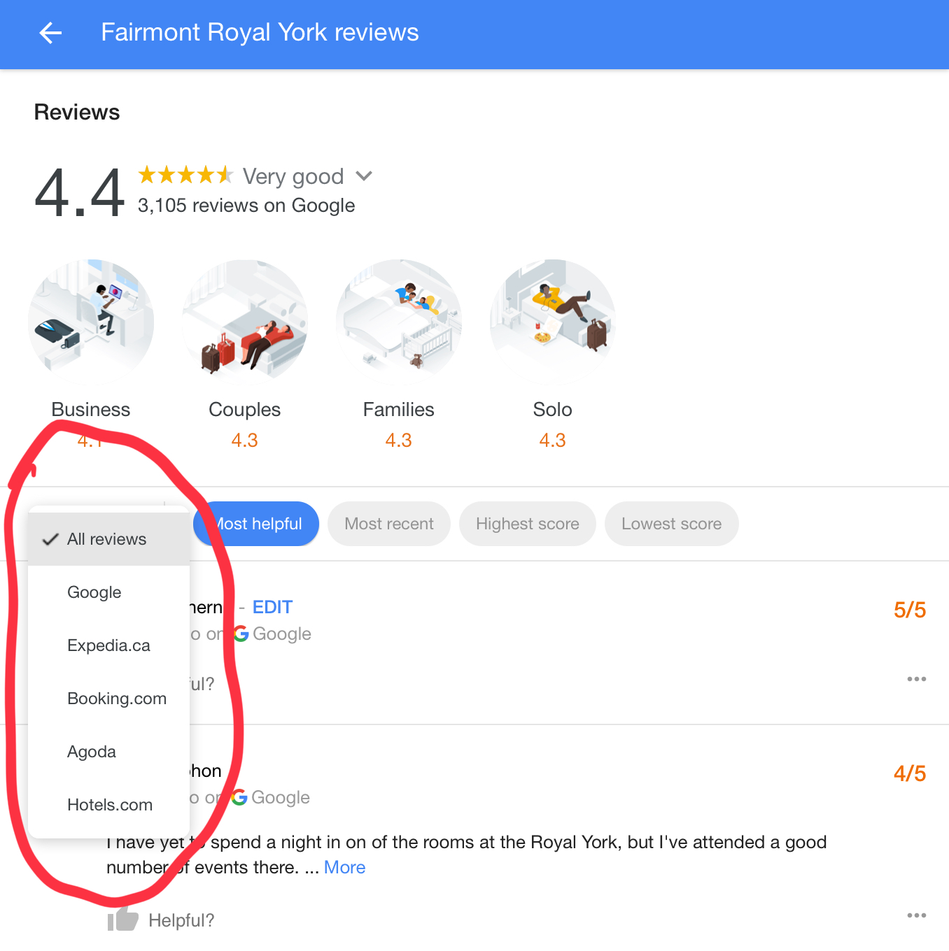 Google Integrating Third Party Reviews in Local Search Results