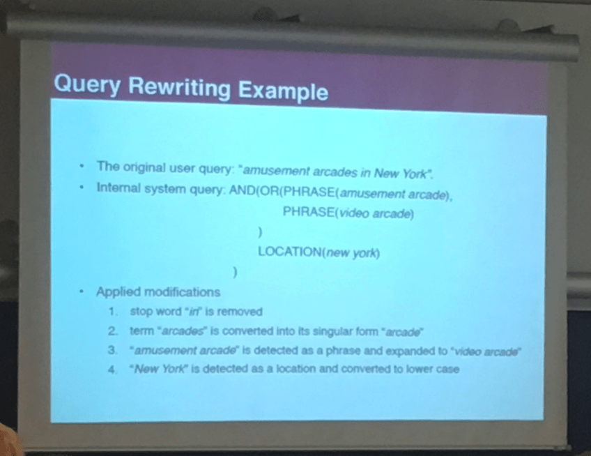 Query Rewriting Example
