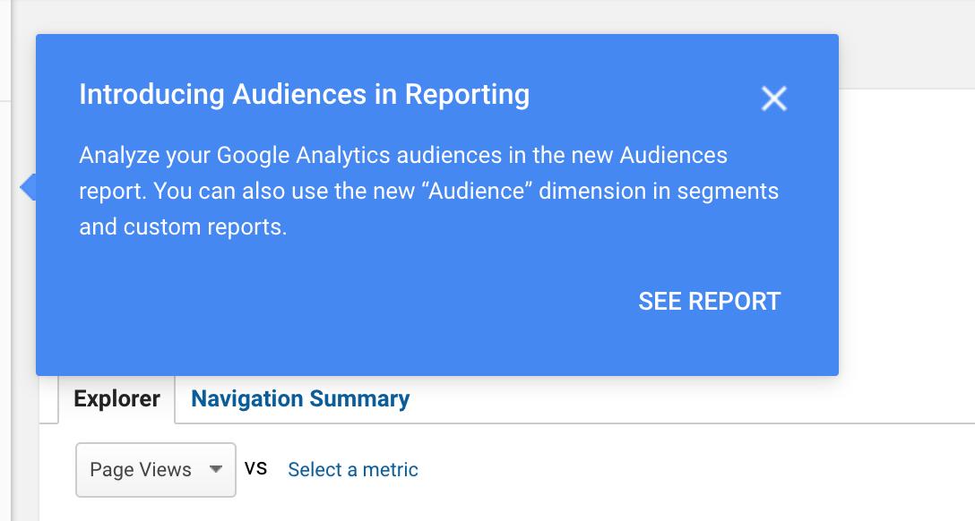 Google Analytics Introduces New 'Audiences' Report