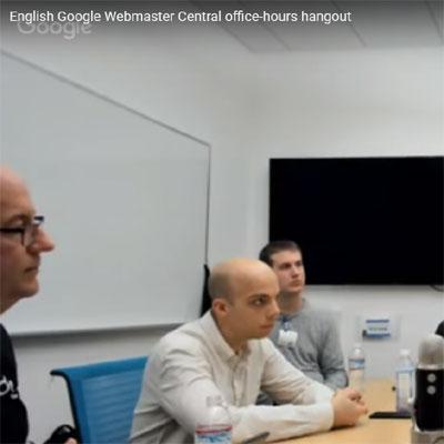 Google Webmaster Central Hangout