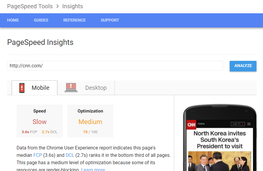 Technical SEO Tools - Google Page Speed Insights