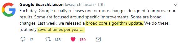 Broad Core Algorithm Update