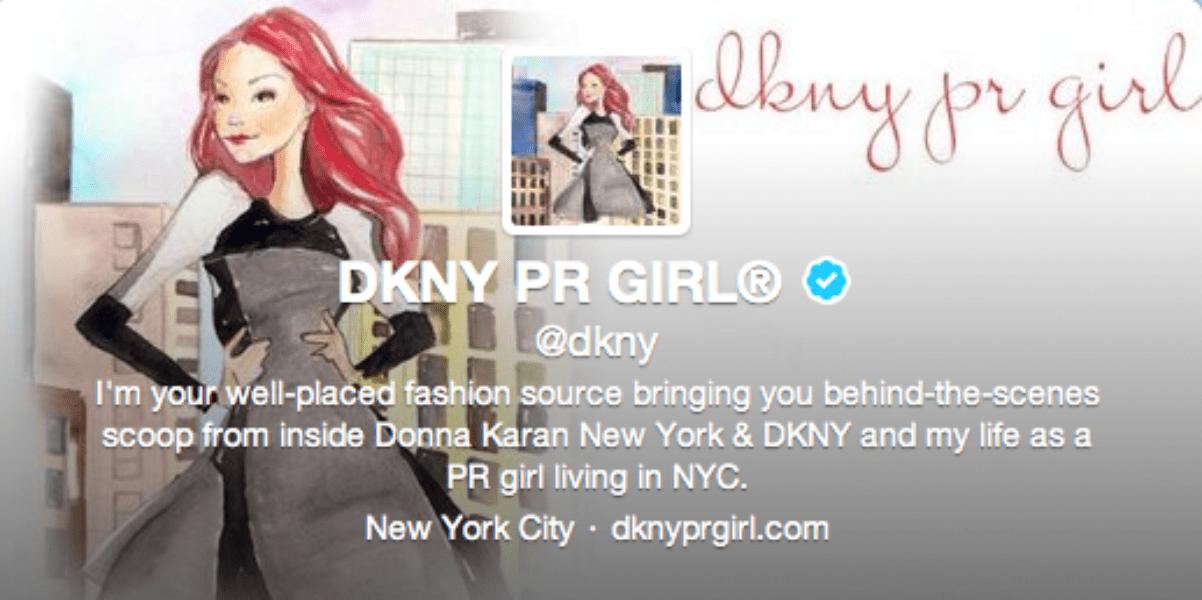 DKNY PR Girl persona