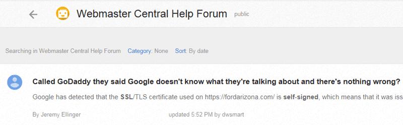 Self-signed SSL Certificate Warniing