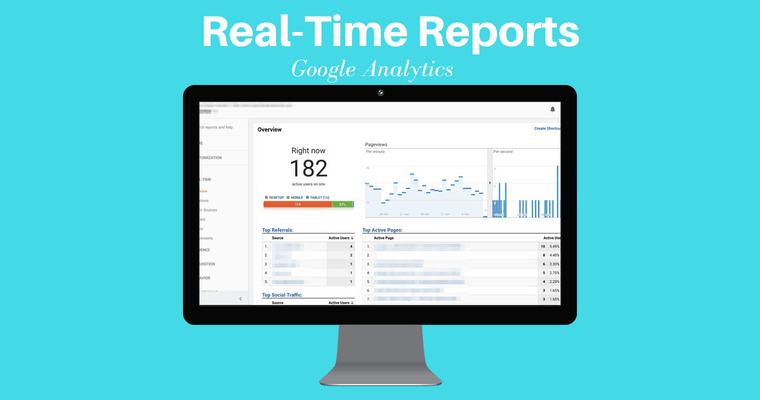 google analytics real time reports