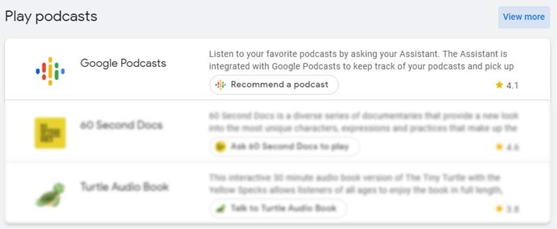 Google Assistant helps find podcasts