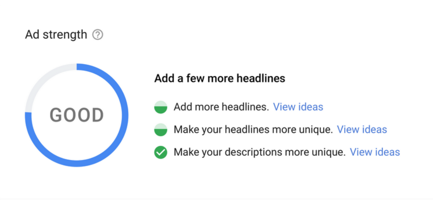 Google Measures Effectiveness of Ads With New 'Ad Strength' Indicator