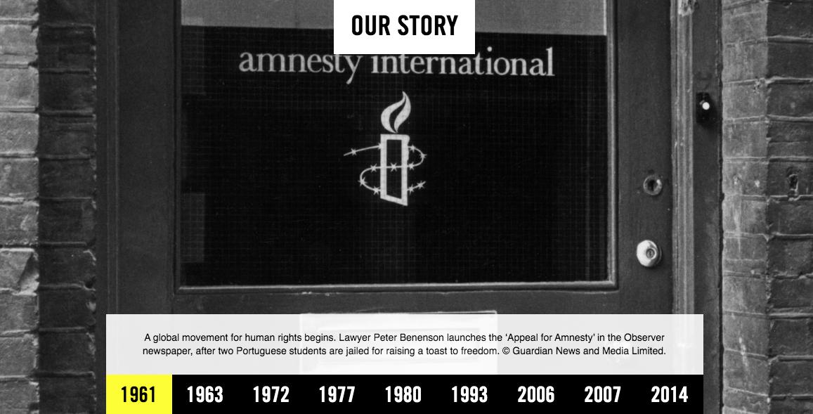 Amnesty International About Us page