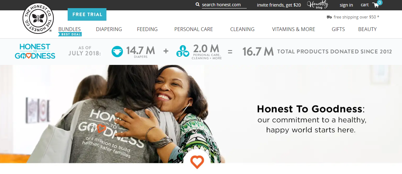 The Honest Company using humans to engage audience