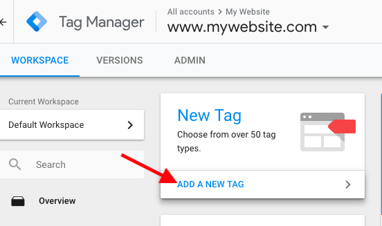 Add New Tag in Google Tag Manager