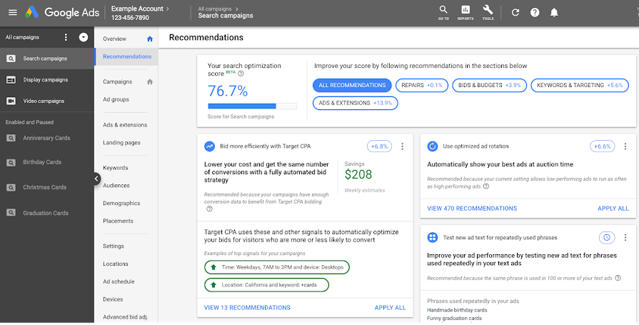 Google's Best Practices for Improving Your Google Ads Optimization Score