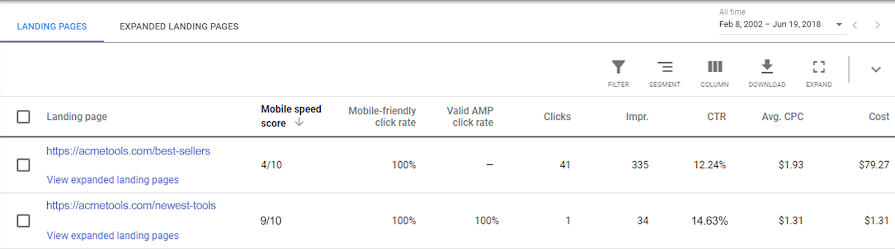 Google Ads Updates Mobile Speed Score for Landing Pages