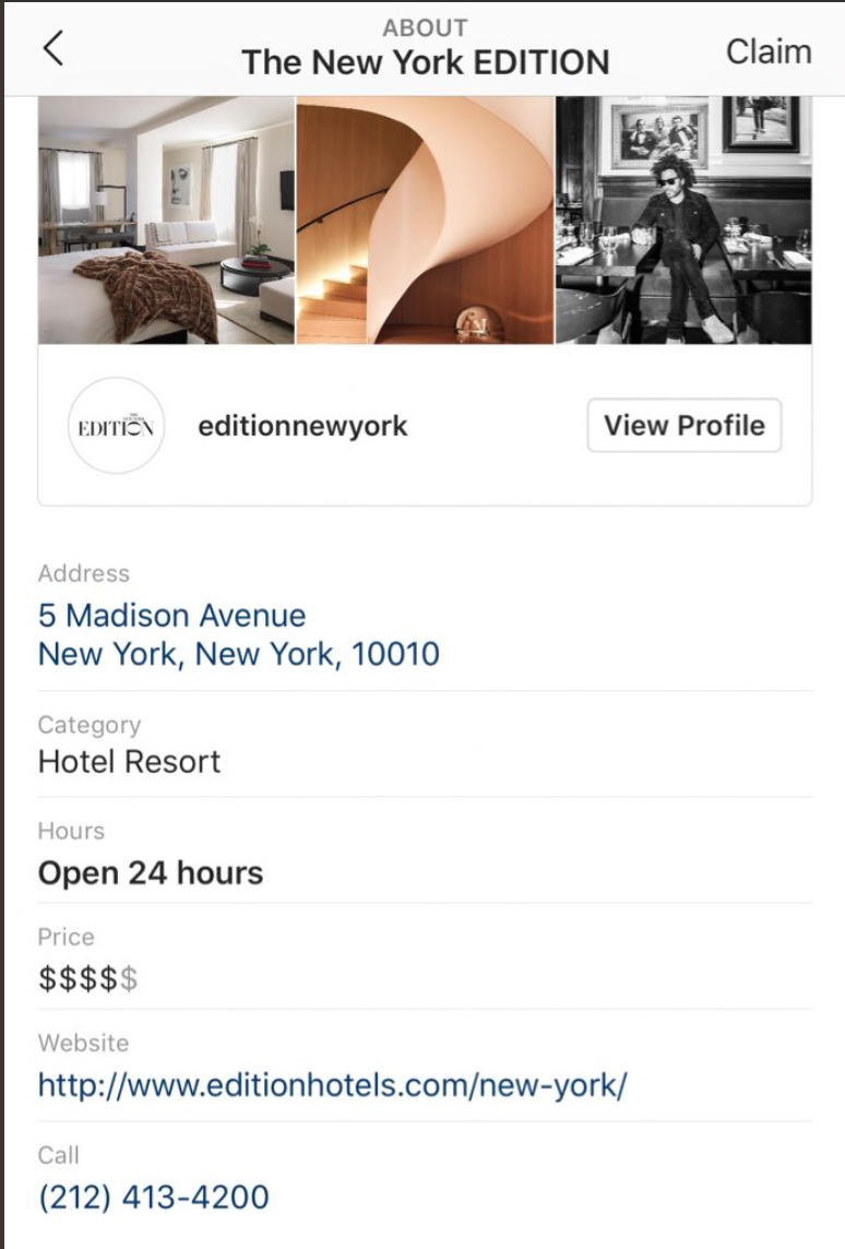Instagram Rolls Out In-App Local Business Profile Pages